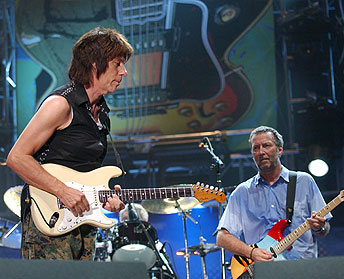 Jeff Beck and Eric Clapton