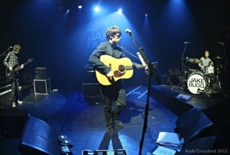 Jake Bugg onstage with full band in London (Photo: Andy Crossland for Live4ever Media)